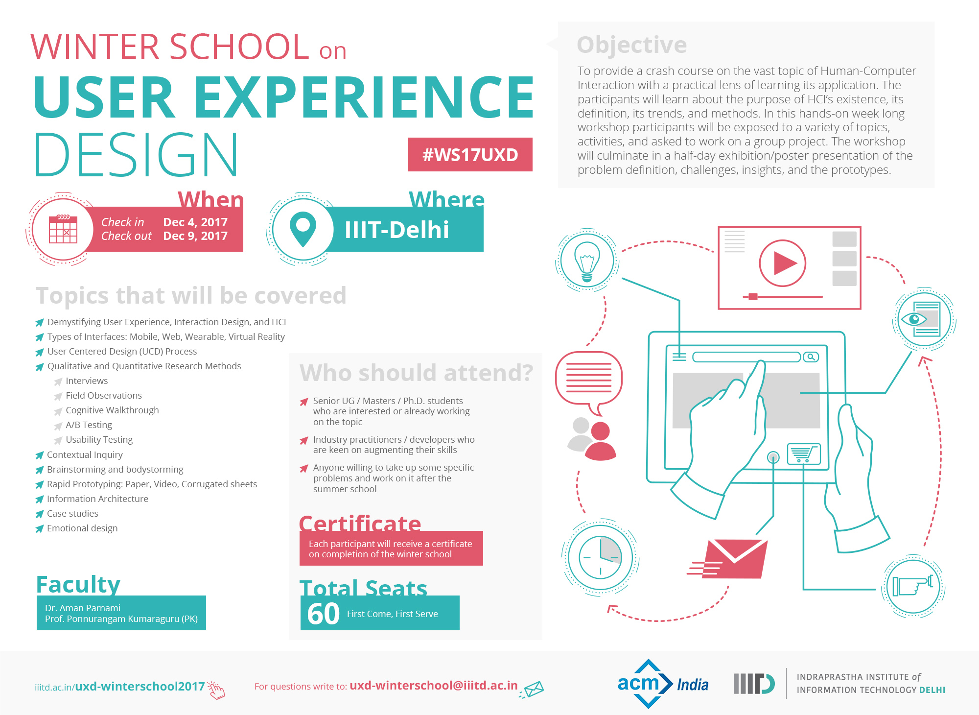 Winter School On User Experience Design 2018